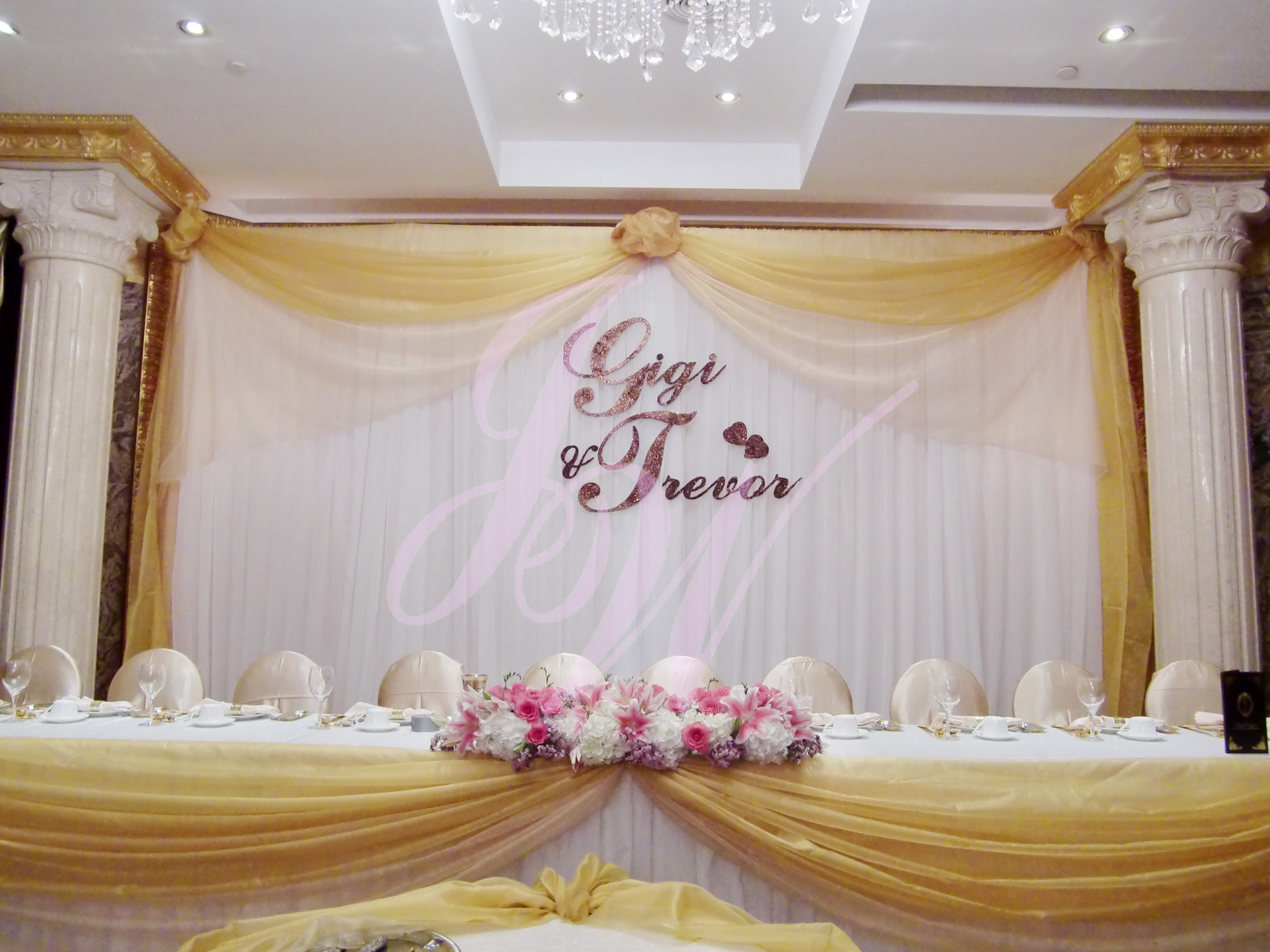 Joyce wedding service backdrop name for Background decoration for wedding