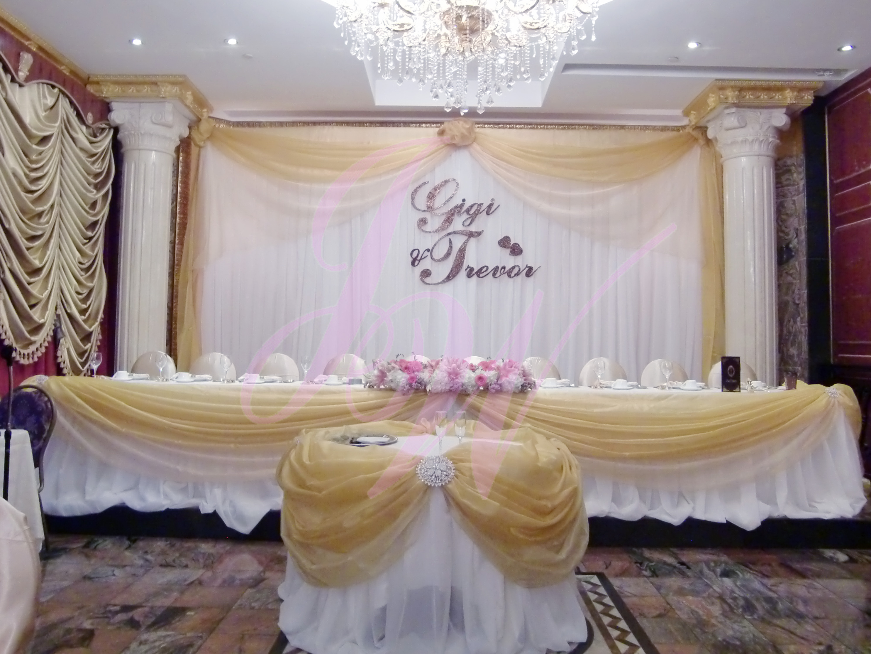 Joyce wedding service backdrop d cor for Backdrops wedding decoration