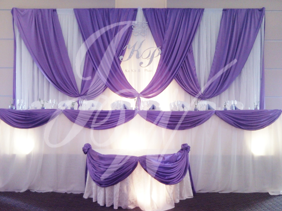 Joyce wedding service backdrop d cor for Backdrop decoration