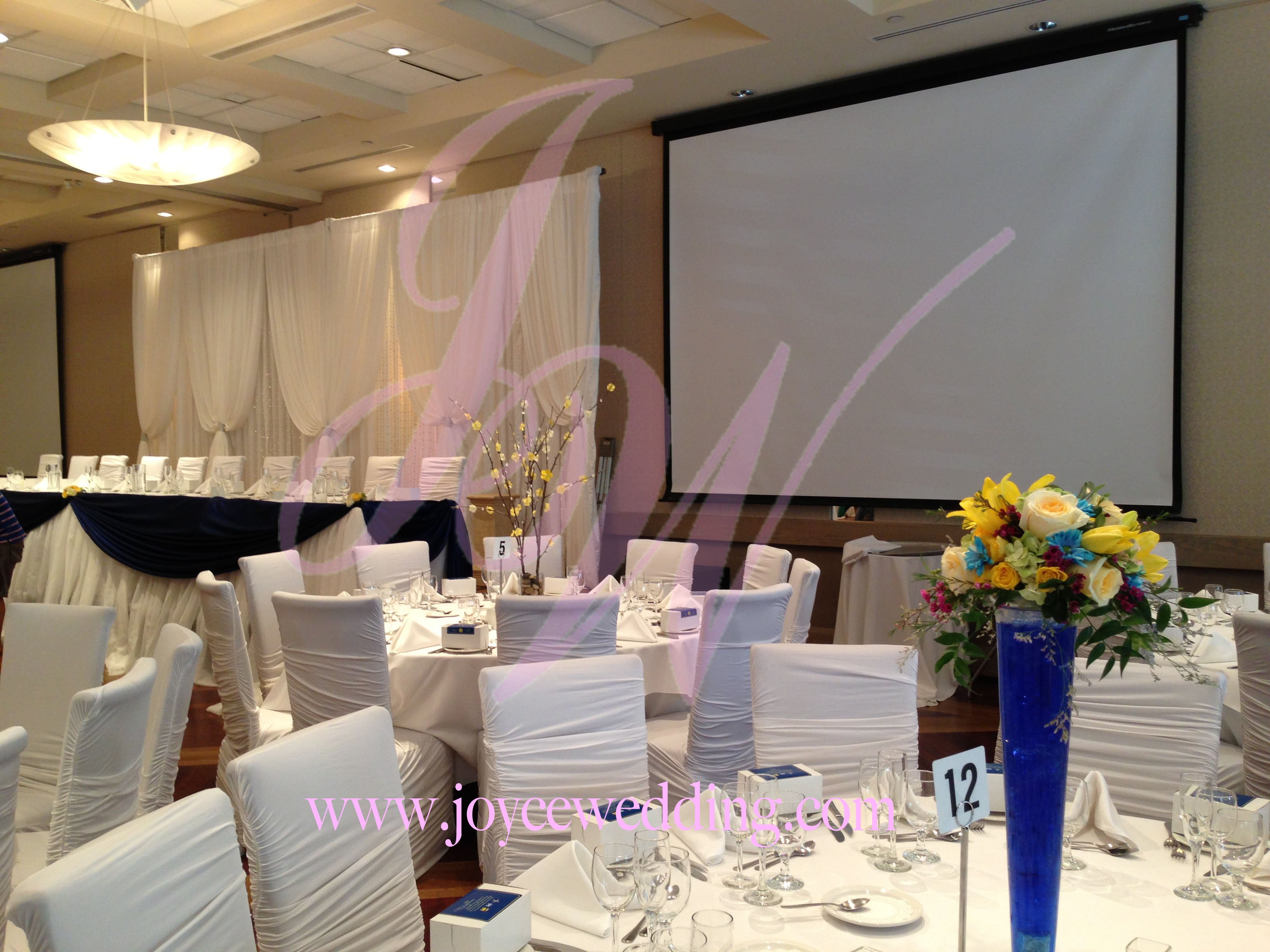 Sala Caboto Columbus Event Center White And Blue